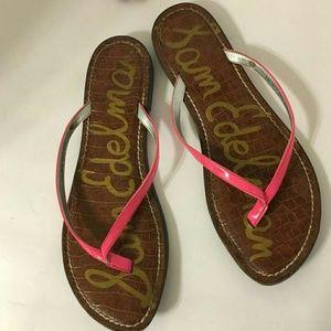 Sam Edelman pink flip flops 9.5